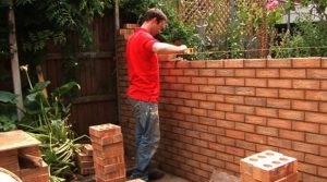 Garden wall and step building Solihull by Landscaping Solihull